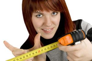 Um die Größe zu ermitteln, muss im erigierten Zustand gemessen werden.